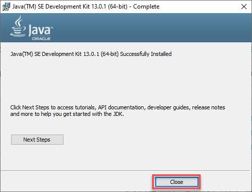 Java Application Environment Setup