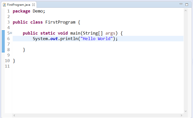 Create, Compile and Run Java Program in Eclipse IDE