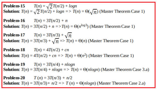 How Master Theorem is used for solving recurrence relations