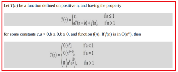 Master Theorem for Subtract and Conquer Recurrences