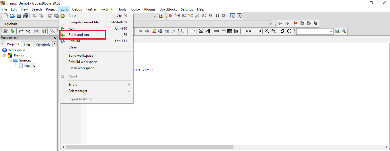 How to Code and Compile the C Program using Codeblocks IDE?