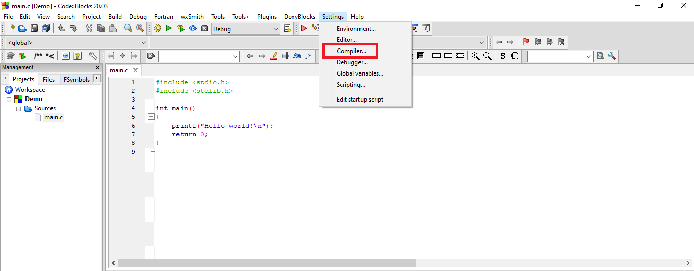How to Configure the GNU Compiler and Debugger?