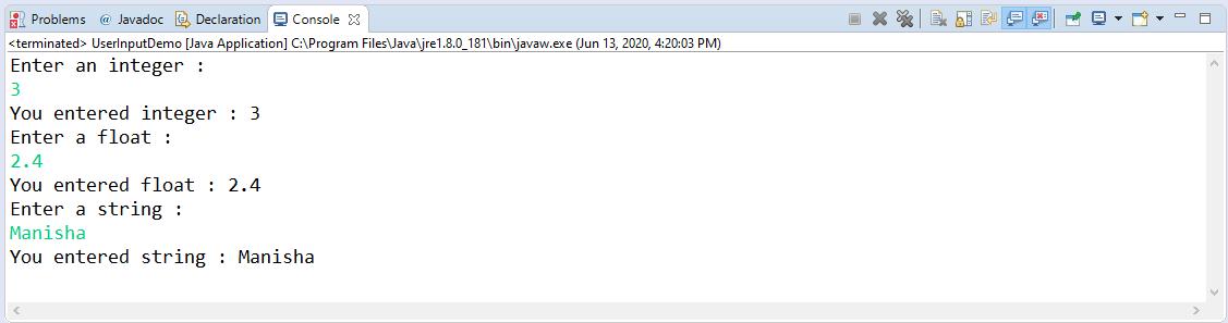 Methods Of Java scanner Class: