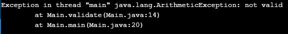 Program for Java Throw Keyword