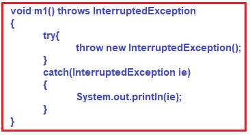 catch and also report using throws in java