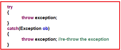 Re-throwing an Exception in Java