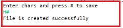 Program to understand FileOutputStream class
