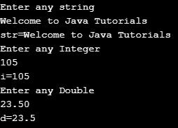 Program to understand DataInputStream class in Java