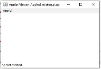 An Applet Skeleton in Java