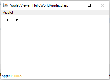 Creating Hello World Applet