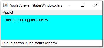 Using the status window