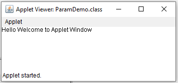 Passing Parameters to Java Applet
