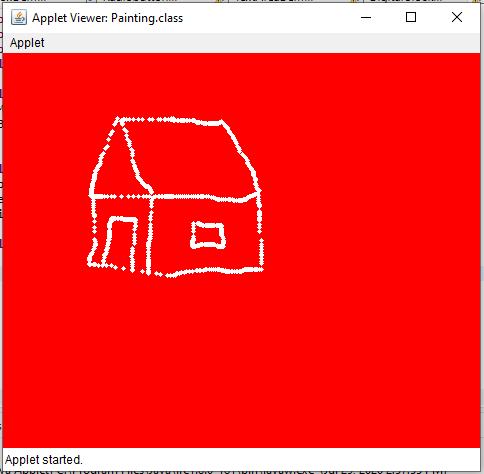 Sample Program : Painting in Applet