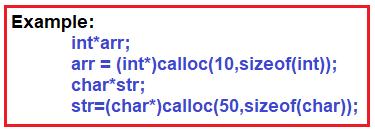 calloc() Function in C