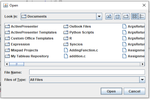 Working with Files in Java Swings