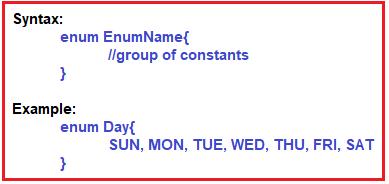 Enumeration in Java